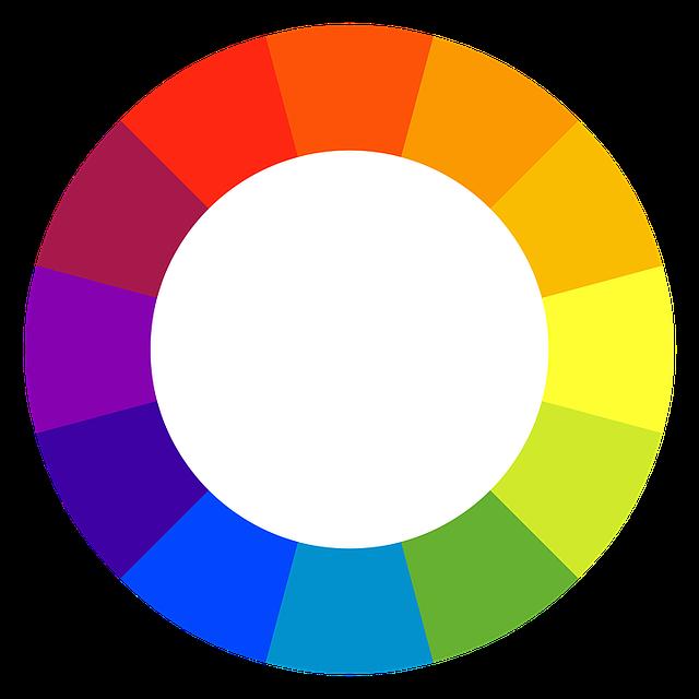 barevné spektrum – kruh